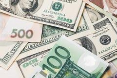 5000 roubles för modell för bakgrundsbillspengar Royaltyfri Bild
