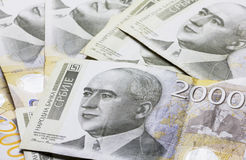 5000 roubles för modell för bakgrundsbillspengar Arkivbilder