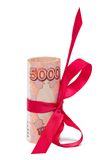 Roubles gift Stock Image