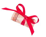 Roubles gift Royalty Free Stock Photos