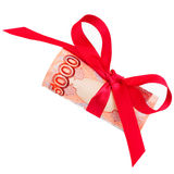 Roubles gift Stock Photography