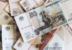 Roubles russes Photo stock