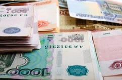 Roubles russes d'argent liquide Images libres de droits