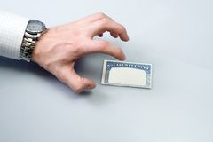 Roubo de identidade com o cartão de segurança social Foto de Stock Royalty Free