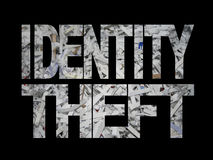 Roubo de identidade com papel shredded Fotografia de Stock Royalty Free