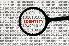 Roubo de identidade em linha Fotografia de Stock Royalty Free