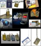 Roubo de identidade no Internet Foto de Stock