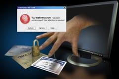 Roubo de identidade no Web imagem de stock