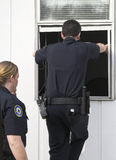 Roubo de investigação da polícia Imagem de Stock