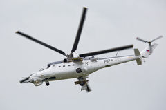 Roudnice nad Labem, CZECH REPUBLIC - JUN 27.: Czech Air Force Mi-24 attack helicopter flying a demonstration at the MEMORIAL AIR Stock Photography