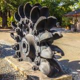 Roue à godets massive de fer Image stock