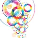 Roue abstraite colorée Photos libres de droits