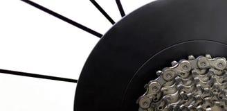 Roue arrière et vitesses de vélo photo libre de droits