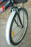 Roue avant de bicyclette photo stock