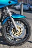 Roue avant de moto Photo libre de droits