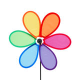 Roue colorée de broche de moulin à vent Photo libre de droits
