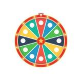 Roue colorée de fortune Photographie stock libre de droits