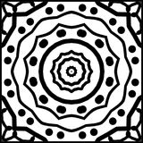 Roue décorative - mandala pour la coloration Illustration Stock