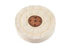 Roue d'amortisseur de tissu d'isolement sur le fond blanc Photo stock