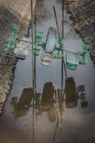 Roue d'eau sans eau Images libres de droits