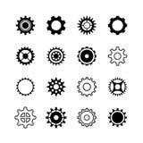 Roue d'engrenage de transmission, icônes de vecteur de changement de vitesse de moteur réglées illustration libre de droits