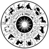 Roue d'horoscope de zodiaque Images libres de droits