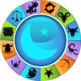 Roue d'horoscope de zodiaque Photo stock