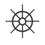 Roue d'icône de bateau Photo libre de droits