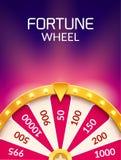 Roue d'illustration de chance de loterie de fortune Jeu de hasard de casino Roulette de fortune de victoire Loisirs d'occasion de illustration de vecteur