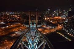 Roue d'observation d'étoile de Melbourne la nuit Image libre de droits