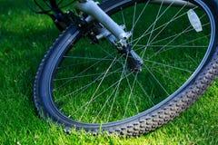 Roue d'un vélo de montagne Photos libres de droits