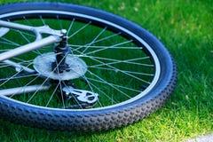 Roue d'un vélo de montagne Images libres de droits
