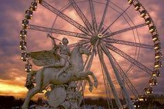 Roue de巴黎弗累斯大转轮,巴黎,法国 免版税库存照片
