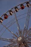 Roue de巴黎(轮渡轮子)在跟特,圣诞节 免版税库存照片