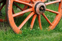 Roue de chariot Images libres de droits