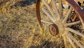 Roue de chariot occidentale Images libres de droits