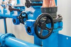 Roue de contrôle de la pompe à eau centrifuge photo libre de droits