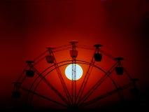Roue de coucher du soleil Photographie stock libre de droits