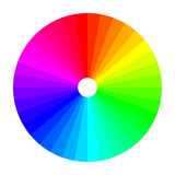 Roue de couleur avec l'ombre de couleurs, spectre de couleur Photos stock