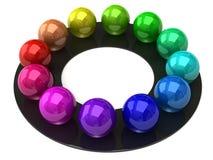 Roue de couleur de sphère Photographie stock libre de droits