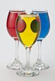 Roue de couleur en verre de vin Photographie stock