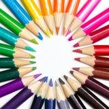 Roue de couleur faite ou crayons Images stock