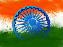 roue de 3D Ashoka pour le Jour de la Déclaration d'Indépendance indien Images stock