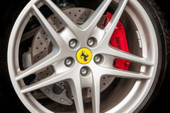 Roue de Ferrari Photos libres de droits