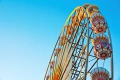 Roue de Ferris au lever de soleil Image stock