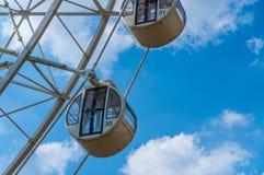 Roue de Ferris blanche Photographie stock libre de droits