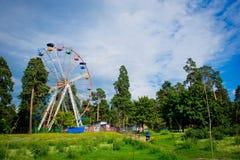 Roue de Ferris multicolore Photographie stock libre de droits