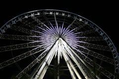 Roue de Ferris par nuit photographie stock