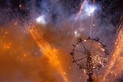 Roue de feux d'artifice Photos libres de droits