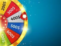 Roue de fortune avec des étincelles Fond de casino Vecteur illustration libre de droits
